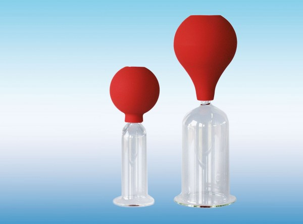 MassageSchröpfgläser mit Ball - CE - Glas -