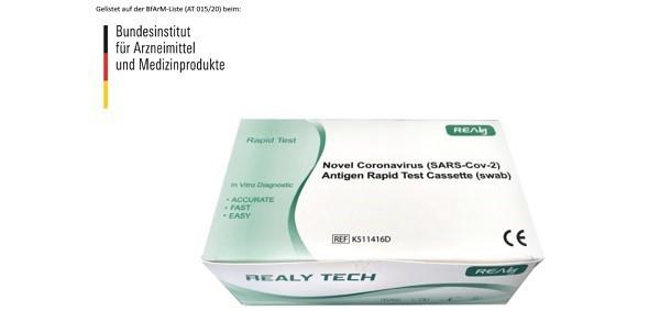 Novel SARS-Cov-2 Antigen-Schnelltest * 5 Test*