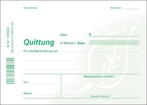 Quittungsblock - mit Durchschreibesatz