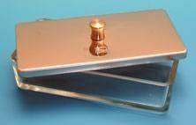 InstrumentenSchale Glas + Edelstahldeckel