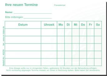 TerminZettel - 5er-Plan