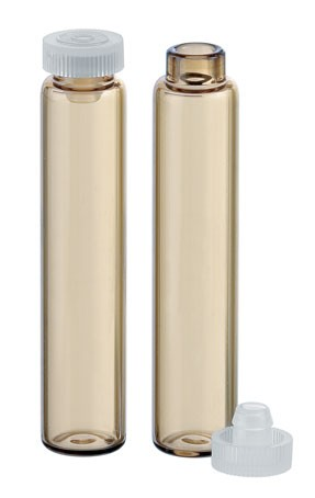 Rollrandgläser - Braunglas - Ø 10 x 47,5mm