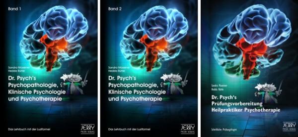 Dr. Psych's Psychopathologie, Klinische Psychologie u. Psychotherapie, Paket: Band 1 + 2 + Prüfungsv