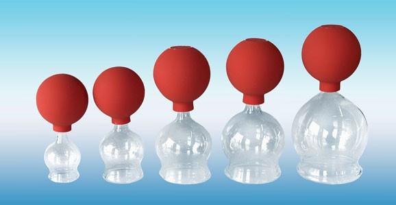 Schröpfgläser mit Ball - CE - Glas