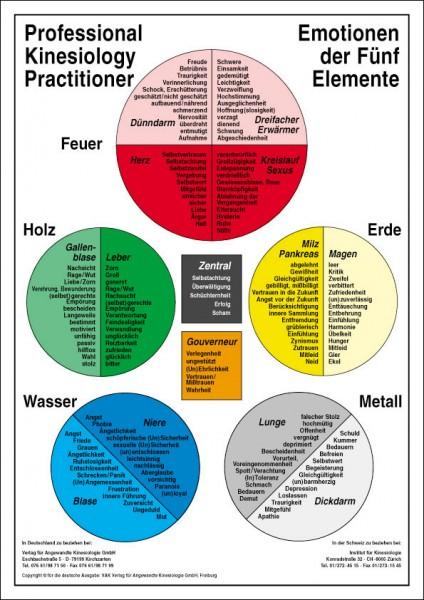 Lehrtafel - Emotionen der 5 Elemente