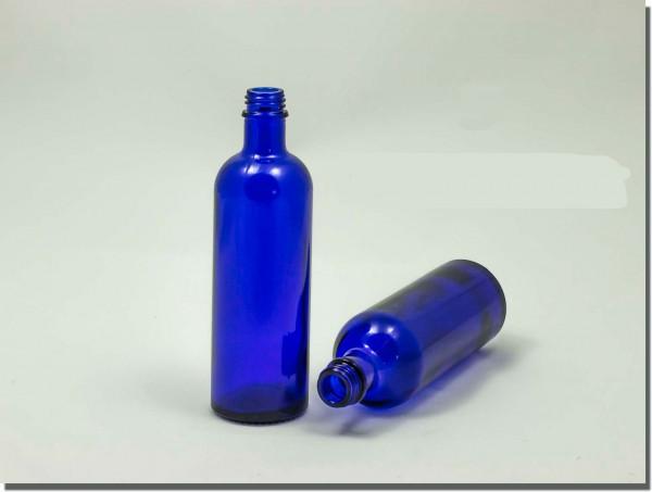 BLAUglasflasche 200 ml mit Gießring