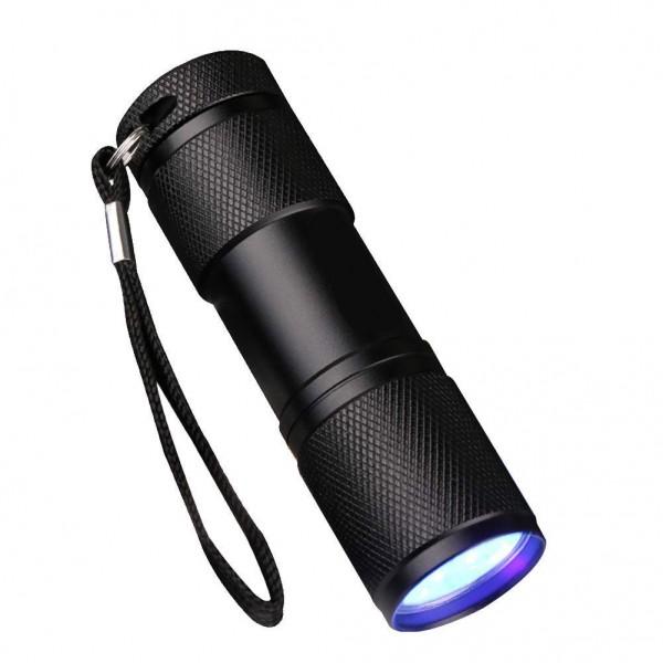 UV-Lampe - 9 LED - Schwarzlicht