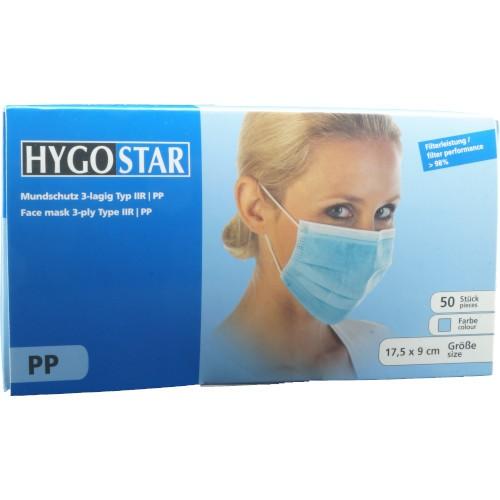 PP-Mundschutz HygoStar 3-lagig 50 Stück