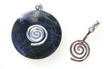 Donut-Halter - Spirale rund - silber -
