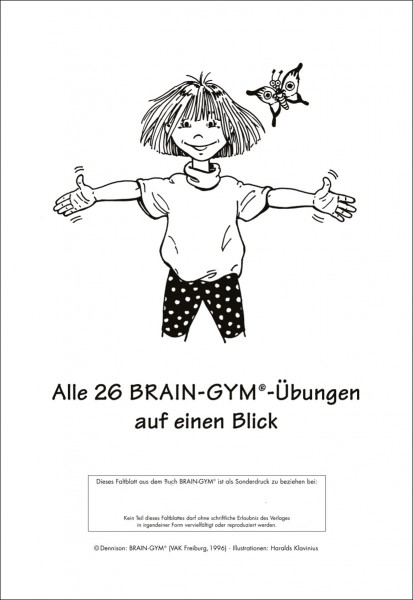 Brain-Gym-Übungen - Faltblatt