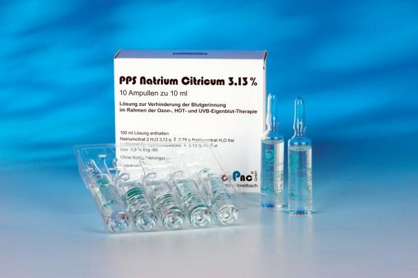 Natrium-Citrat 3,13% - 10 ml Ampullen