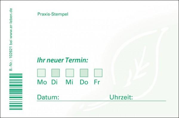 TerminZettel - Block uno Er-leben