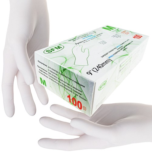 Nitril-Handschuhe Biosafe Skin - puderfrei - Gr. M - VE 100 Stück