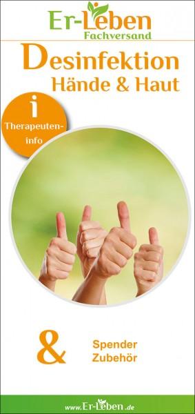 """Therapeuteninfo """"Desinfektion Hände und Haut"""""""