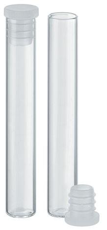 Flachbodengläser - Klarglas - Ø 8 x 47,5 mm