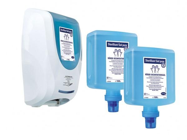 Set: CleanSafe touchless - Überkopfspendersystem + 2 x Sterillium Gel pure