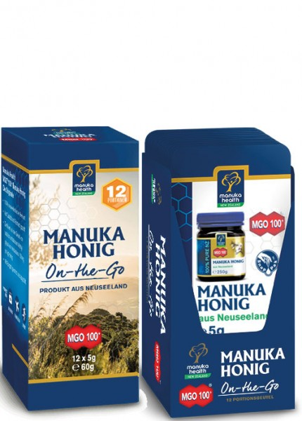 Manuka-Honig MGO 100+ On-the-Go Box: 12 x 5 g