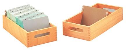 Karteitrog DIN A5 quer - Holz - groß - ohne Deckel