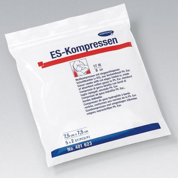 ES-Kompressen - Mullkompressen steril 7,5 x 7,5cm